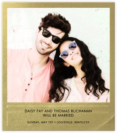 Snapshot Gold - Square - Paperless Post - Photo save the dates