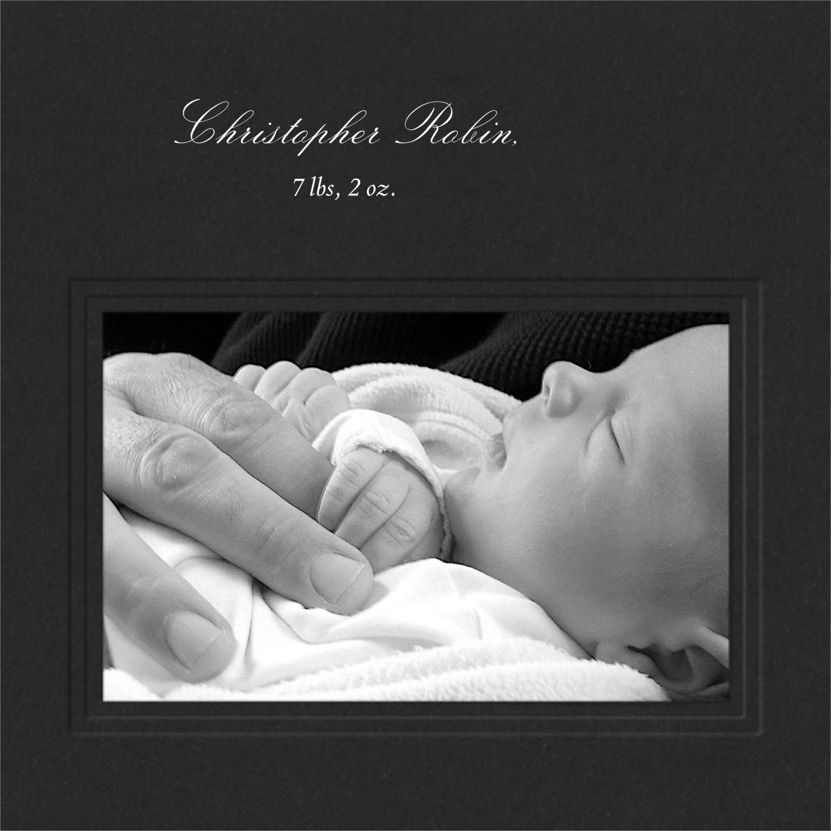 Classic Photo Album (Black inserts) - Square - Paperless Post - Birthday - insert front