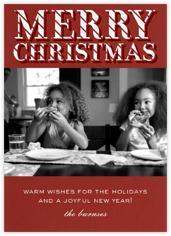 Merry Christmas Candy Cane - Paperless Post - Affordable Christmas Cards