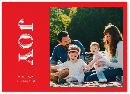 Rising Joy - Red - Paperless Post - Holiday cards