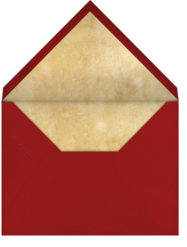 Streamer Shapes (Tall) - Crimson/Gold - Paperless Post - Winter parties - envelope back