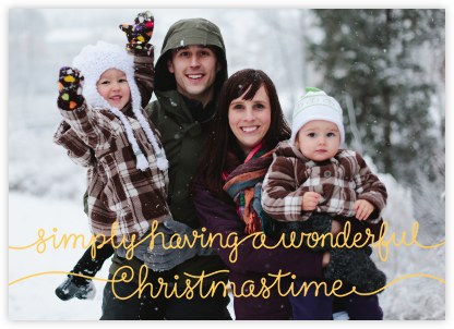 Wonderful Christmastime - Paperless Post - Christmas Cards