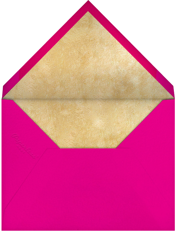 Streamer Shapes (Inset) - White/Gold - Paperless Post - Adult birthday - envelope back