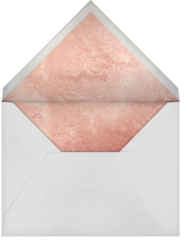 Streamer Shapes (Inset) - White/Rose Gold - Paperless Post - Adult birthday - envelope back