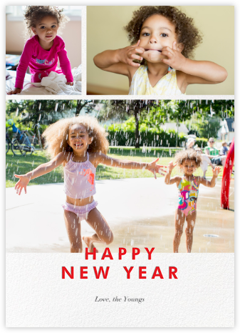 New Year Cutouts (Tall Multi-Photo) - Red - Paperless Post -