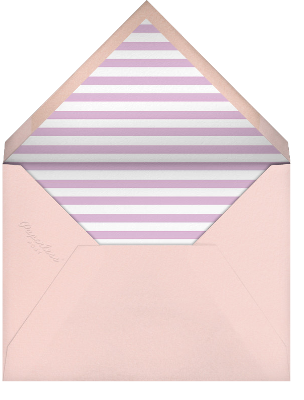 Streamer Shapes (Inset) - Hydrangea/ Rose Gold - Paperless Post - Kids' birthday - envelope back