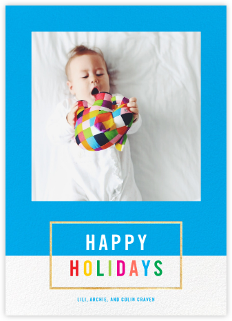 Bright and Bold - Capri/Gold - Paperless Post - Holiday Cards