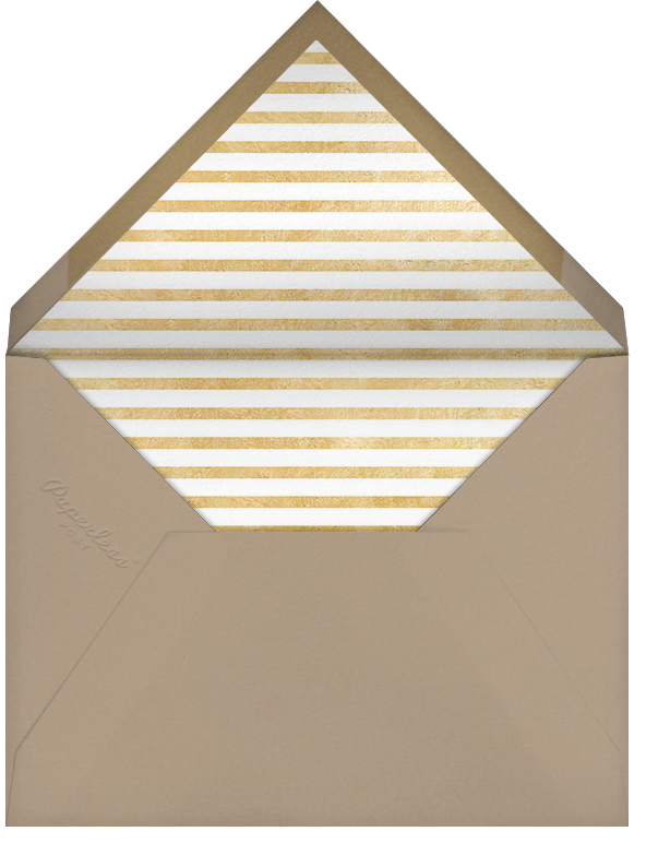 Bright and Bold - Capri/Gold - Paperless Post - Holiday cards - envelope back