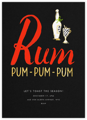 Rum-Pum-Pum-Pum - kate spade new york - Holiday invitations