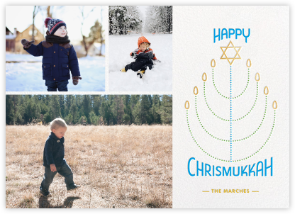 Chrismukkah Candles - Paperless Post -