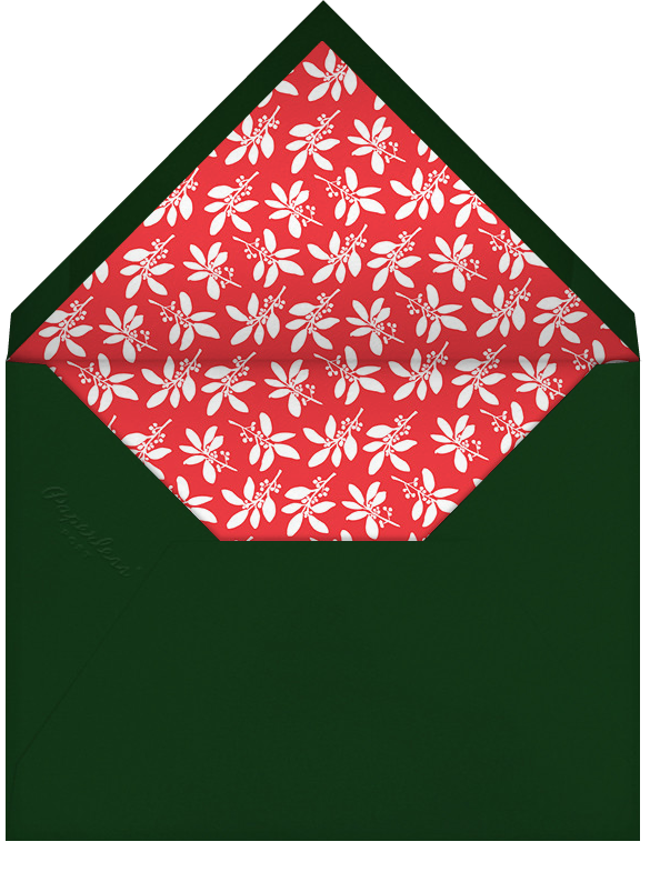 Hedera (Greeting) - Green - Linda and Harriett - Christmas - envelope back