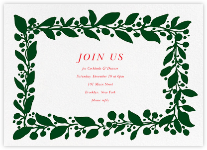 Hedera (Invitation) - Green - Linda and Harriett - Holiday invitations