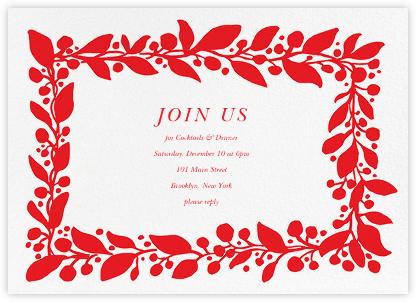 Hedera (Invitation) - Red - Linda and Harriett - Holiday invitations