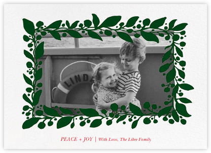 Hedera (Photo) - Green - Linda and Harriett - Holiday cards