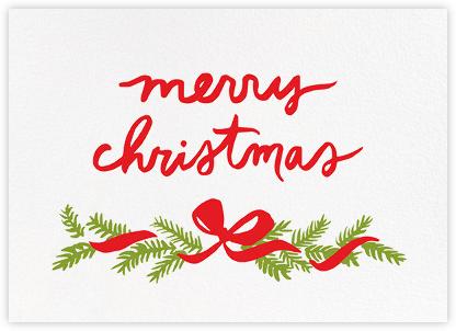Pine Mantel (Greeting) - Linda and Harriett - Linda & Harriett Cards