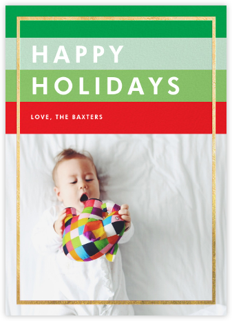 Holiday Hues - Gold - Paperless Post - Holiday cards