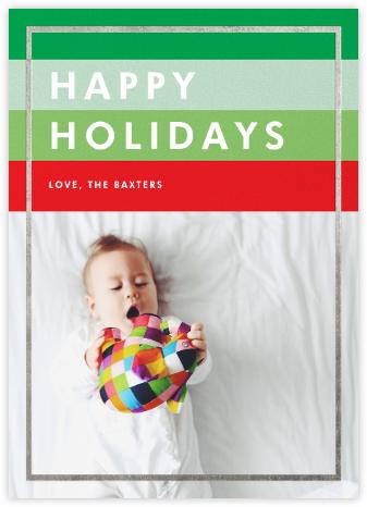 Holiday Hues - Silver - Paperless Post -