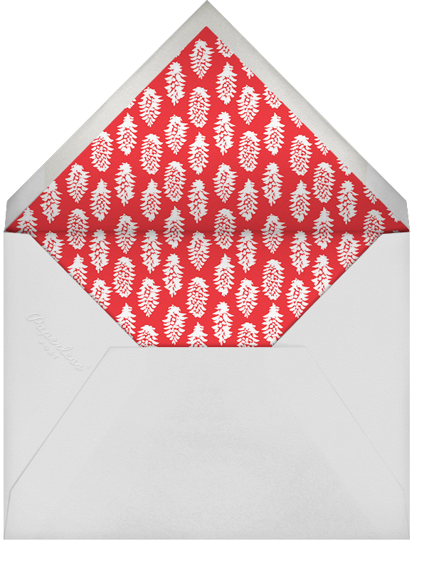 Pine Mantel (Portrait Photo) - Red - Linda and Harriett - null - envelope back