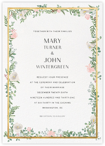 Lautaret (Invitation) - Gold - Paperless Post - Wedding Invitations