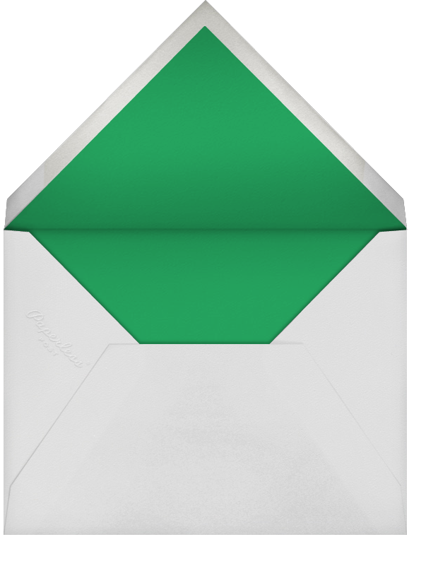 Solidus - Emerald/Silver - Paperless Post - Christmas - envelope back