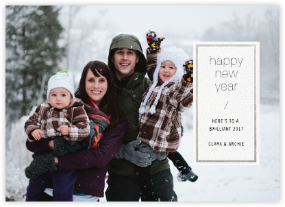 Solidus - White/Silver - Paperless Post - New Year cards