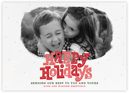 Holiday Snowdrift - Paperless Post - Holiday cards
