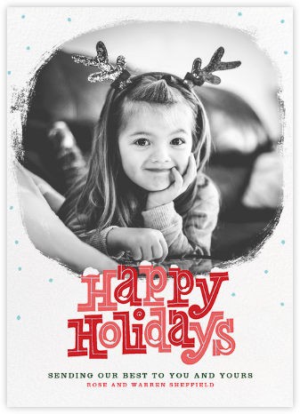 Holiday Snowdrift (Tall) - Paperless Post - Holiday cards