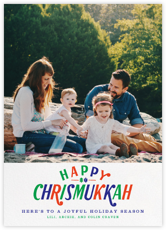 Tricolor Chrismukkah (Tall) - Paperless Post -