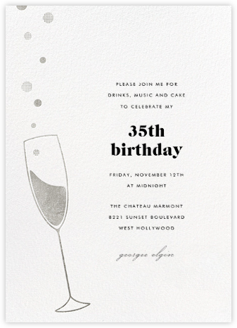 Champagne Bubbles - Silver - Paperless Post