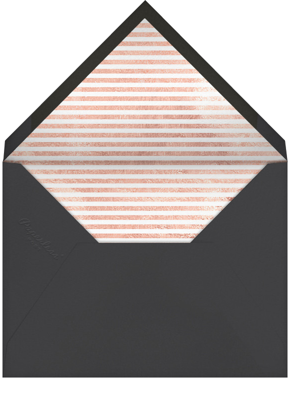 Champagne Bubbles (Photo) - Rose Gold - Paperless Post - Adult birthday - envelope back