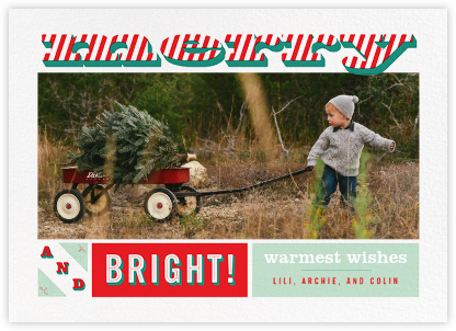 Merry and Striped - Paperless Post - Holiday Cards