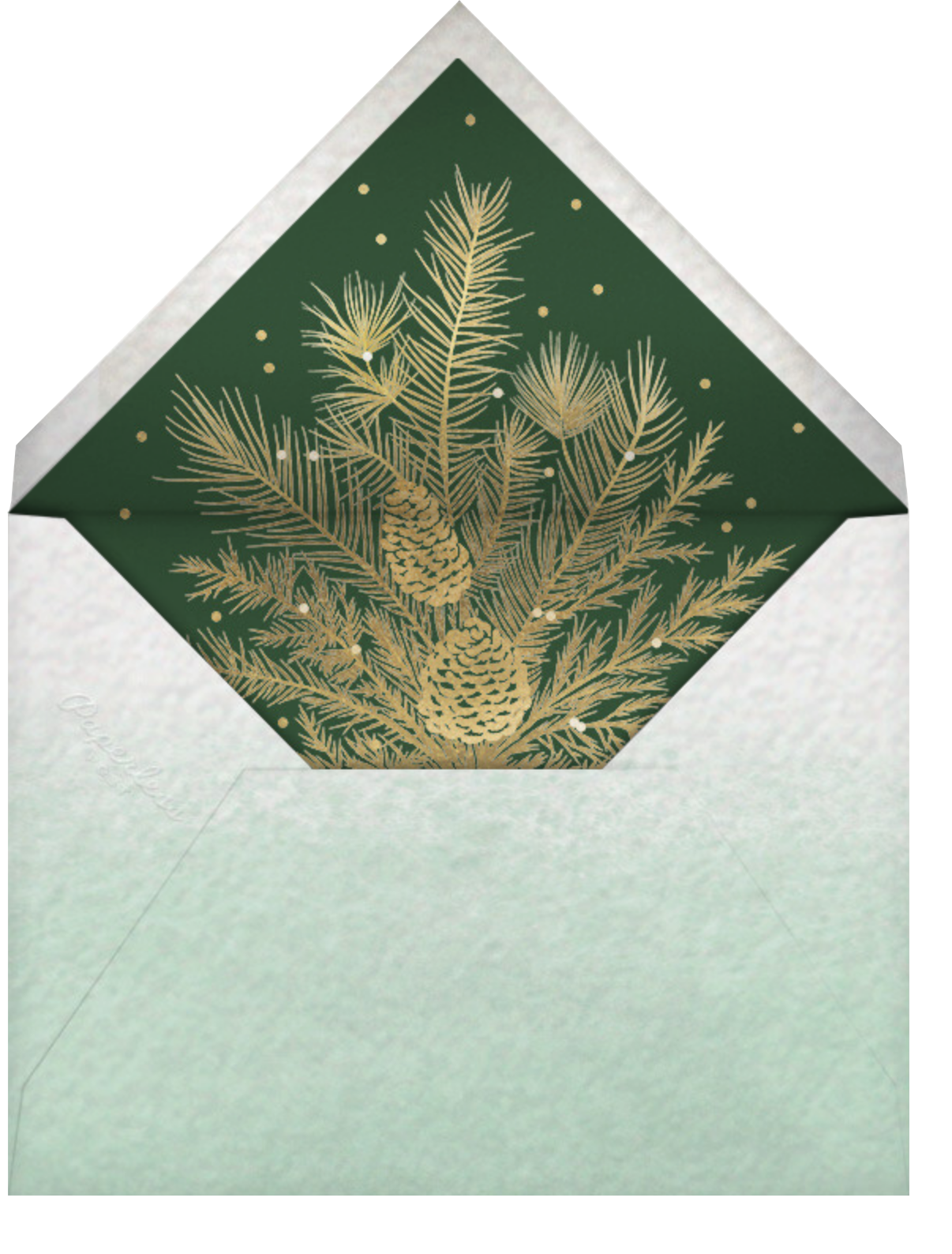 Yule Blooms Christmas (Square) - Paperless Post - Christmas - envelope back