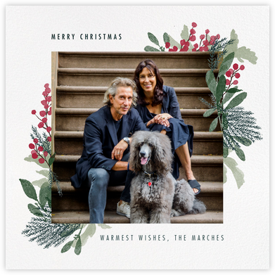 Yule Blooms Christmas (Square) - Paperless Post - Christmas Cards