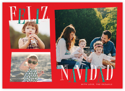 Jaunty Navidad - Red - Paperless Post -