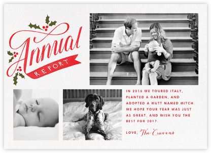 Annual Report (Multi-Photo) - Paperless Post -