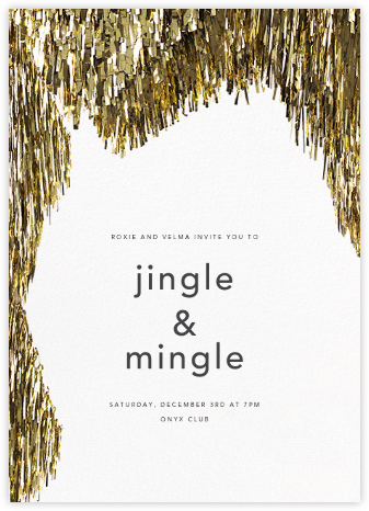 Flash - Gold - CONFETTISYSTEM - New Year's Eve Invitations