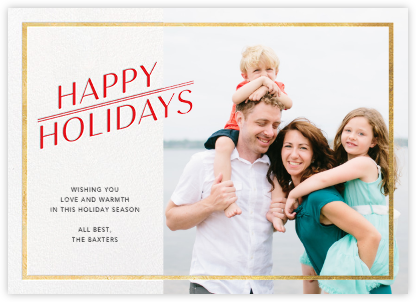 Red-Letter Holiday - Gold - Paperless Post -