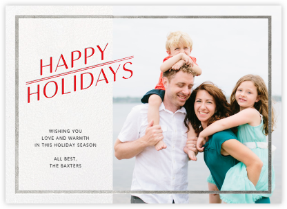 Red-Letter Holiday - Silver - Paperless Post -
