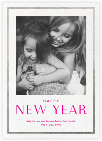 New Year Finestra (Tall) - White/Silver - Paperless Post -