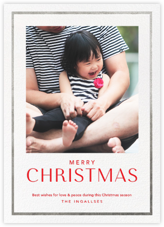 Christmas Finestra (Tall) - White/Silver - Paperless Post - Photo holiday cards