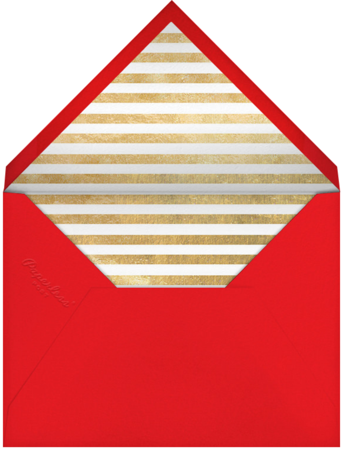 Holiday Finestra (Tall) - White/Gold - Paperless Post - Holiday Favorites - envelope back