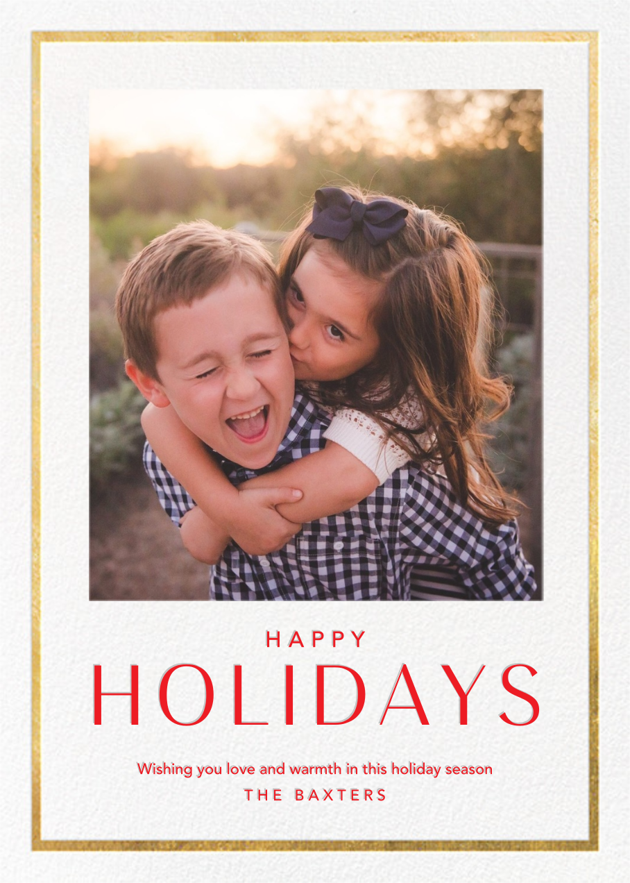 Holiday Finestra (Tall) - White/Gold - Paperless Post - Holiday cards