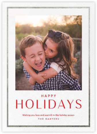 Holiday Finestra (Tall) - White/Silver - Paperless Post - Holiday cards