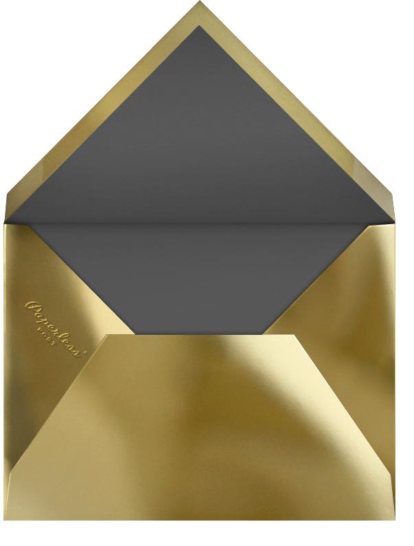 Panneaux (Multi-Photo) - Slate/Gold - Paperless Post - Envelope