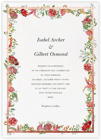 Espelette (Invitation) - Rose Gold - Paperless Post - Wedding Invitations