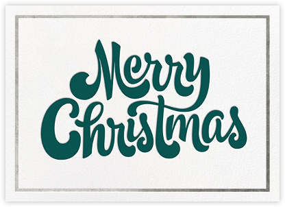 Signature Christmas - Silver - Paperless Post - Christmas Cards