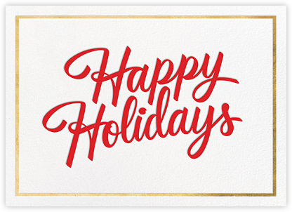 Signature Holiday - Gold - Paperless Post - Company holiday cards