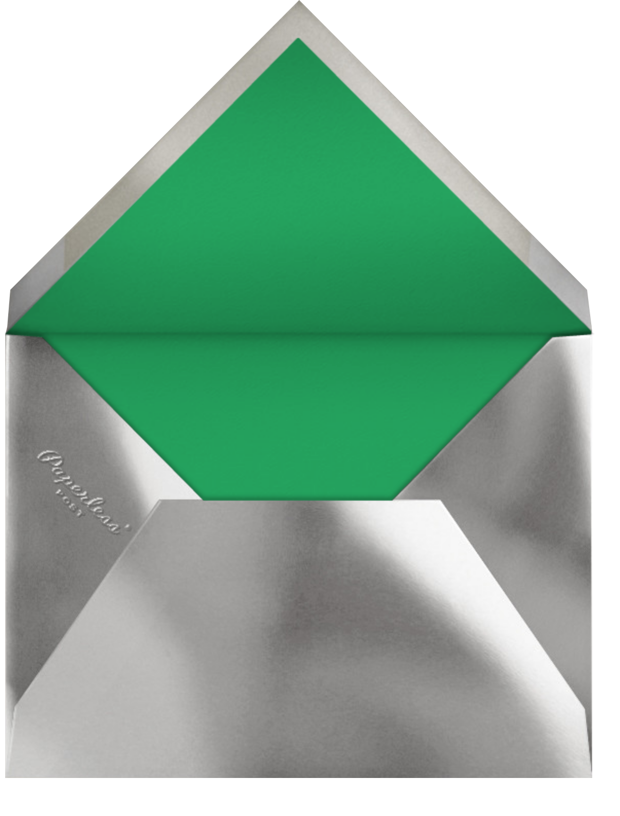 Bordure - Emerald/Silver - Paperless Post - Holiday cards - envelope back