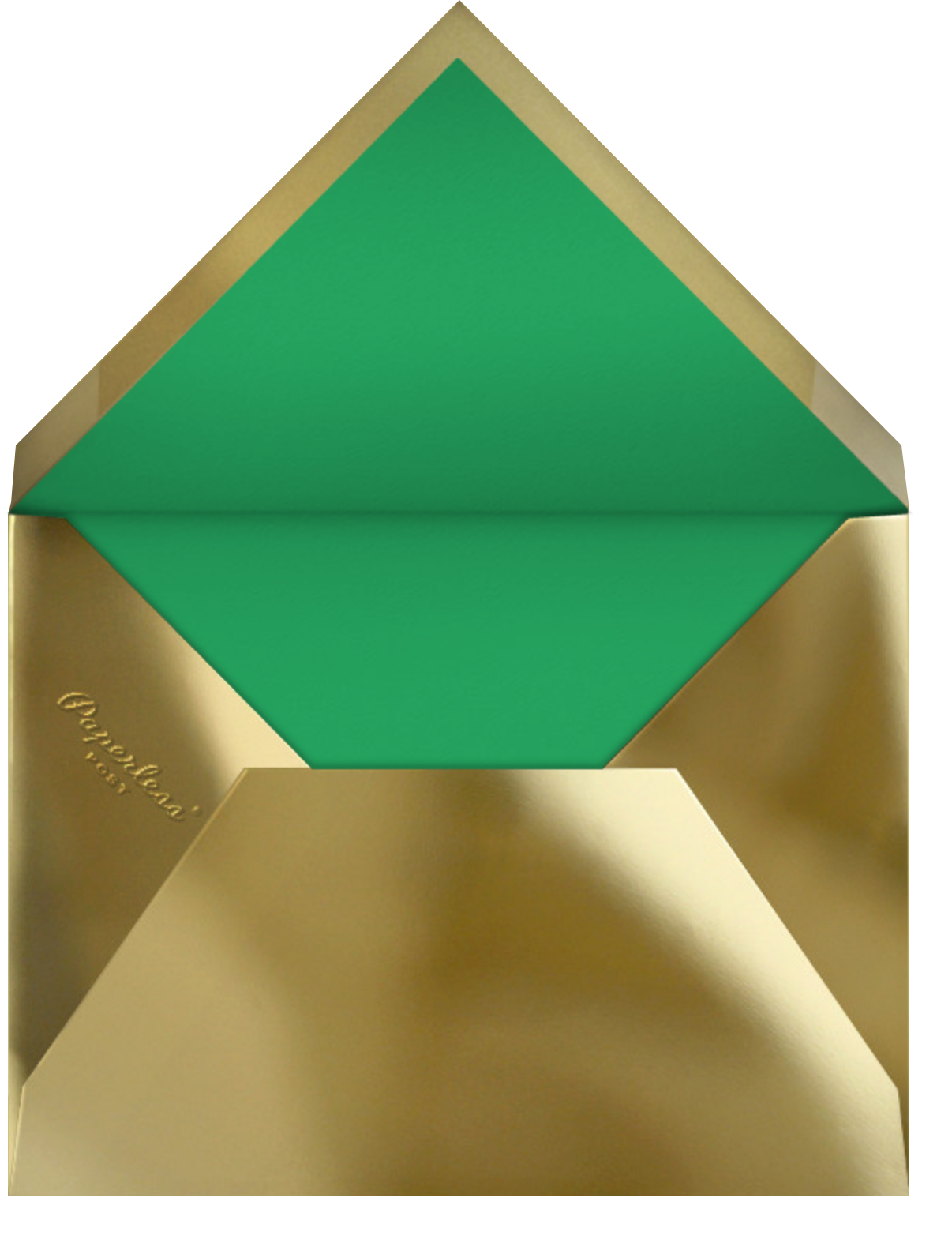 Bordure - Emerald/Gold - Paperless Post - Holiday cards - envelope back