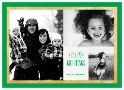 Bordure - Emerald/Gold - Paperless Post - Holiday cards